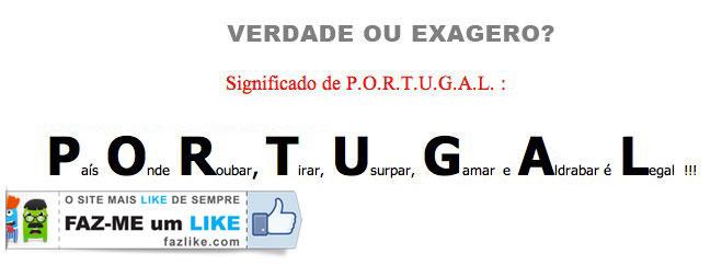 Significado de portugal - humor