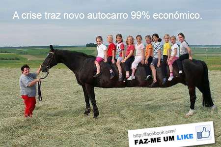 Autocarro 99% económico