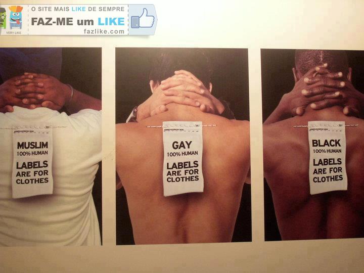 Etiquetas são para as roupas
