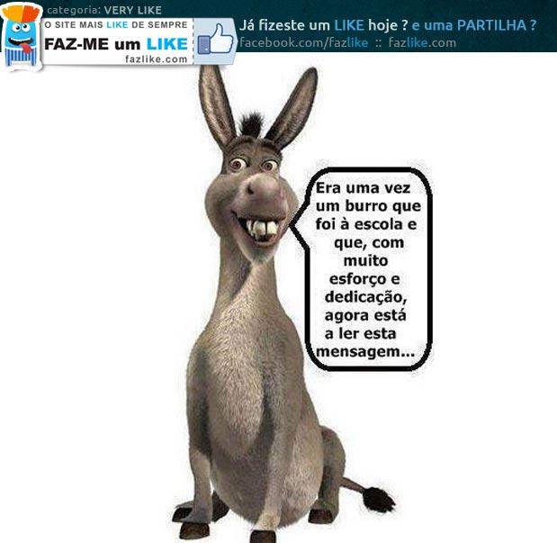 Mensagem de burro para burro