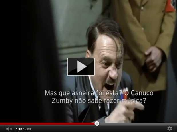 Hitler chateado com canção de Fanny - casa dos segredos