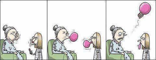 Consequências da pastilha elástica