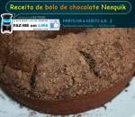 receita de bolo de chocolate nesquik