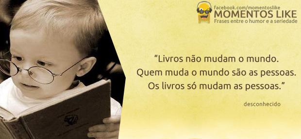 Frase sobre livros