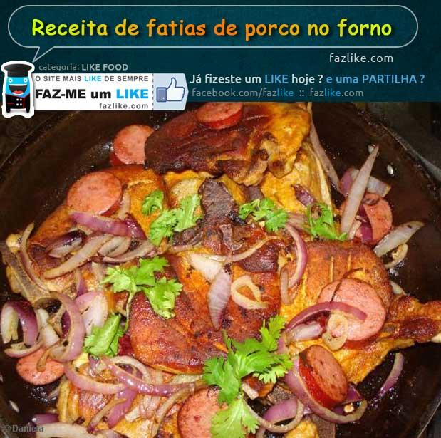 Receita de fatias de porco no forno