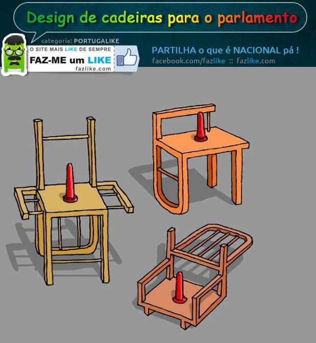 Design de cadeiras para o parlamento