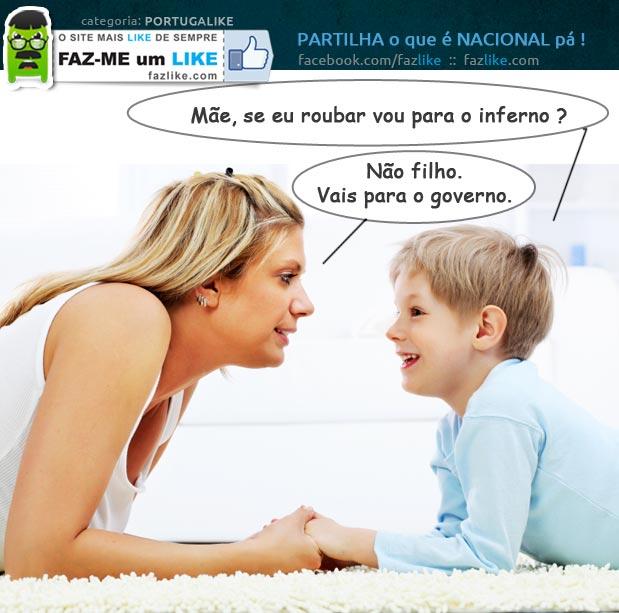 Conversas entre mãe e filho