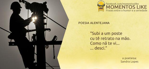 poesia Alentejana - Subi a um poste