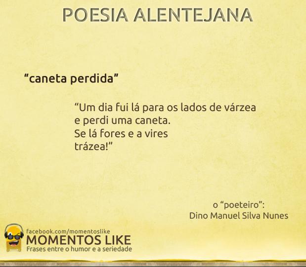 Poesia Alentejana - caneta perdida