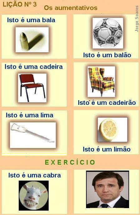 Aumentativos segundo a gramática portuguesa