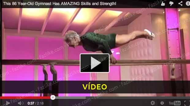 Incrível ginasta com 86 anos - Vídeo