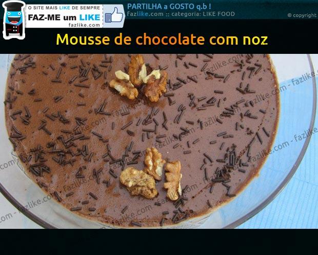 Receita de mousse de chocolate com noz