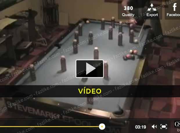 Truques impressionantes de bilhar snooker - Vídeo
