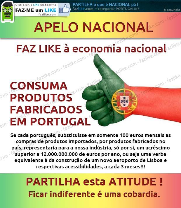apelo-nacional Faz like à economia nacional