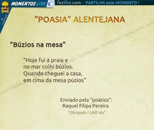 Poesia Alentejana - Búzios na mesa