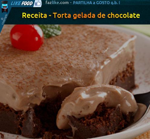 Torta gelada de chocolate - receita