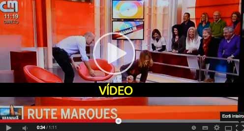 Rute Marques cai em directo no CMTV