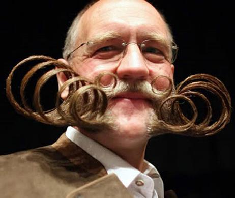 10 imagens de bigodes bizarros
