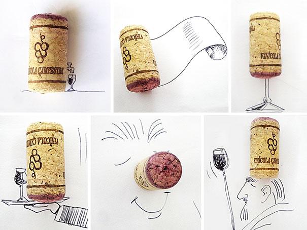 Desenhos com objetos de Victor Nunes