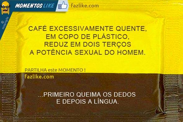 Café reduz potência sexual masculina